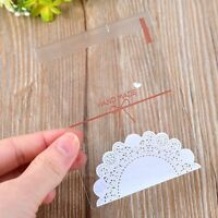 100Pcs Lace Bowknot Plastic Self-adhesive Cookie Biscuit HAND MADE Soap Bags