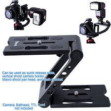 Z Faltbar Stativkopf Kameraplatte Schnellwechselplatte Makro Pan Tilt Head kopf