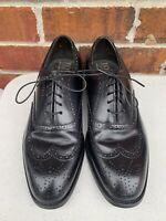 Bostonian Mens 8.5 D Oxfords Dress Shoes Black  Leather Lace Up Wingtip Shoes