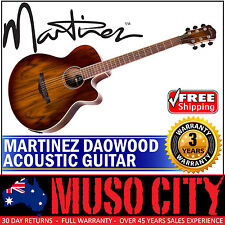 Martinez Daowood Small Body Acoustic-electric Cutaway Guitar African Brownburst