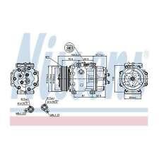 Fits Volvo S40 MK2 D4 Genuine OE Quality Nissens A/C Air Con Compressor