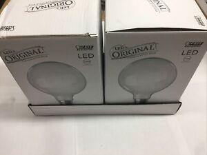 2!!! Feit 100-Watt Equivalent G40 Dimmable LED White Glass Vintage Edison Bulb