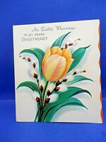 "Vintage Unused PADDED EASTER ""TO MY DEAR SWEETHEART"" - Card/env. - Free Shipping"