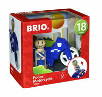 30336 BRIO Police Motorcycle Wood & Plastic Toy inc 2pcs Toddler Age 18 Months+