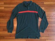 Rare Vintage Ralph Lauren Long Sleeve Polo Shirt Kint Stripe Xl
