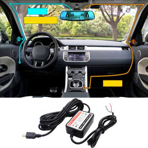 Mini USB DC Car Charger Hard Wire Kit For In Car Dash Cam Camcorder DVR D Tx