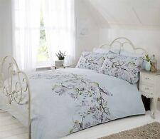 Eloise Floral King Size Duvet Cover & Pillowcase Set Blue Bedding Duck Egg