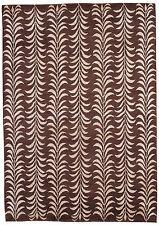 Handmade design moderne tufté laine lourd tapis-moïse marron. taille: 120cmX180cm