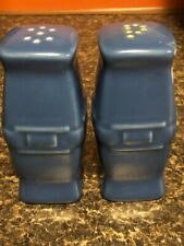 Longaberger Cornflower Blue Pottery Soft Square Shakers
