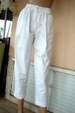 PANTALON D ETE BLANC  A PINCES 100 % COTTON  T 36