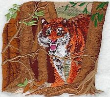 "Tiger Wild Animal, Exotic Cat Embroidered Patch 5.1""x 4.4"""