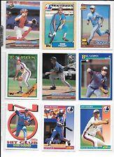 Gary Carter plus 8 more Expos baseball card lot