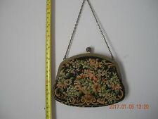 ANTIQUE VICTORIAN 1910-1940? Needle Point Embroidered Tapestry Purse/Handbag