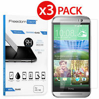 3-PACK NEW PREMIUM REAL HD TEMPERED GLASS SCREEN PROTECTOR FILM FOR HTC ONE M8