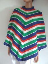 Superbe poncho tricoté main avec PHIDAR 100 % laine taille 38   42 comme  neuf 31a505f64fa3
