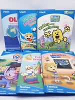 Vtech Bugsby Interactive Book Lot of 6: Dora Olivia Max & Ruby Wow Wow Wubbzy