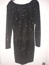Women's Warehouse Sequin Black Party Dress, UK12