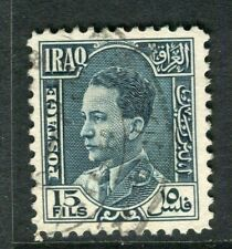 IRAQ; 1934 early King Ghazi issue fine used 15f. value