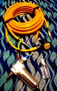 Diving Hookah 50' kit w/ filters Cressi 2nd stage PERFECT FOR HULL CLEANING