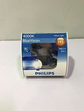 Philips Blue Vision 4000k H3 Globes 12V 55W Twin Pack 12336