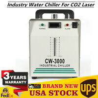 CW-3000 Industry Water Chiller for CO2 Laser Engraving Cutting Machine 9L Newest