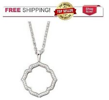 "Sterling Silver One Kiss 1/2 CTTW DIAMOND 18"" Necklace with Pendant"