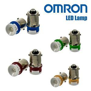 OMRON A22-24AG, A22-24AR, A22-24AY, A22-24AA LED lamp, A22-TN Lamp Socket
