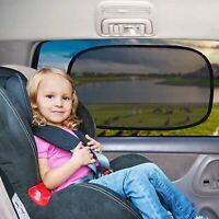 Evelots Car Window Sun Shade-Child Protect-No Glare//UV Rays-Easy Install-Set//2