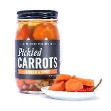 Pickled Carrots, Ginger & Spice by Pernicious Pickles (16 ounce jar)