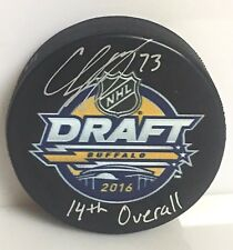 Charlie McAvoy Boston Bruins Signed Autographed limited edition draft day puck