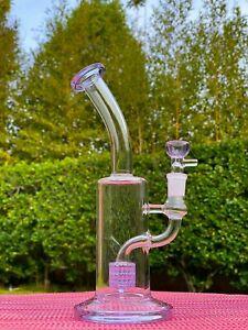 11'' Hookah Glass Water Pipe Bong Bubble W Double Percolator Fast Shipping