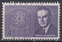 USA Briefmarke gestempelt 4c Atomic Energy Act Brien McMahon / 1818