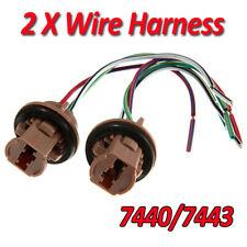 2pcs 7440 7443 LED Bulb Socket Brake Turn Signal Lights Wire Harness Adapter