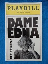 Dame Edna The Royal Tour - Booth Theatre Playbill w/Ticket - January 14th, 2000
