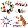 5Pcs/10Pcs Colorful Fur False Mouse Pet Kitten Cat Toy Funny Playing Mouse Toys