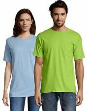 Hanes Mens T Shirt with Pocket Tagless Comfort Soft Tees Tops Blank Plain Adult
