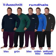 Herren Nachtwäsche Schlafanzug Pyjama Baumwolle 58 60 62 64 3XL 4XL 5XL 6XL+++++