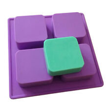 Silicone 4-Cavity Square Soap Cake ice Mold Mould Tray For Homemade Craft DIY
