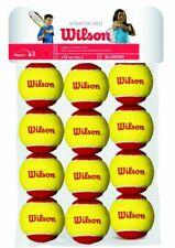 Wilson T13710 Starter Tennis Balls, Red/Yellow - 1 Dozen