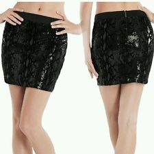 NWT GUESS black SEQUINS Clarissa Skirt size M