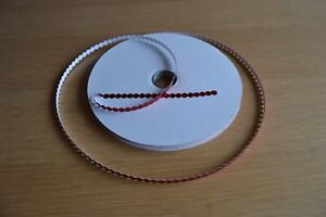 Red Self Adhesive Sequins 10 metres from the reel