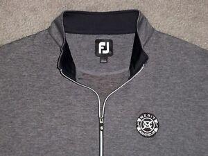 Men's NWOT FOOTJOY Stretch 1/4 Zip Golf Vest L HEATHER GRAY w/FJ & Golf Logo