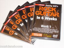 6 DVD SET LICK LIBRARY DANNY GILLS ROCK Guitar In 1 2 3 4 5 6 Weeks DVD LEARN