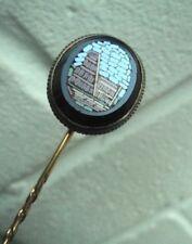 Vittoriano GRANDE ITALIANO MICRO MOSAICO STICK PIN/Spilla COLOSSEO ROMA c.1880/90