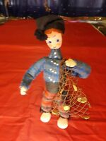 """Cloth Doll From Portugal by Maria Helena. Circa 1950-1960 8"""" Tall"""