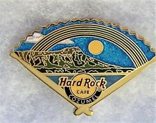 HARD ROCK CAFE COZUMEL MEXICO ISLAND RAINBOW FAN WITH DRUMSTICKS PIN # 92598