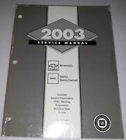 2003 Chevrolet GM Silverado GMC Sierra Service Manual Volume 1 GMT/03-CK8PU-1