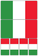 Italy Italian Flag Laminated Sticker Set Small Car Motorcycle Ducati Alfa Decals