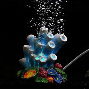 Fish Tank Bowl Air Bubbler Aquarium Decorations Coral Ornament Decor SG
