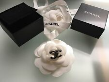 CHANEL Chrystal Black Clear CC Logo Ring Size 54 - NEW WITH BOX